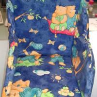 ba52bae5b Dětská vysoká stolička - vložka do židle: Seat reducer, blue romantic